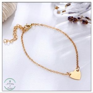 🌸3 FOR $15🌸Heart Alloy Chain Anklet